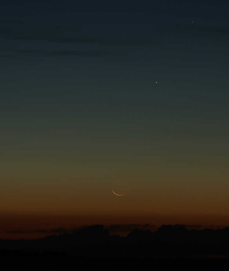 croissant de lune et conjonction du 19/09/2017