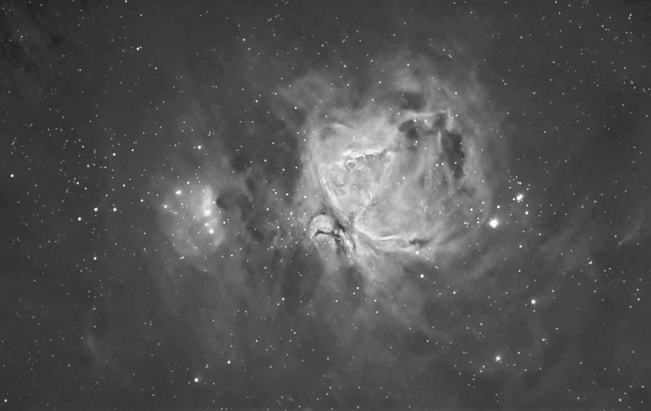 Messier 42/43 Orion Nebula & Running Man en H-alpha
