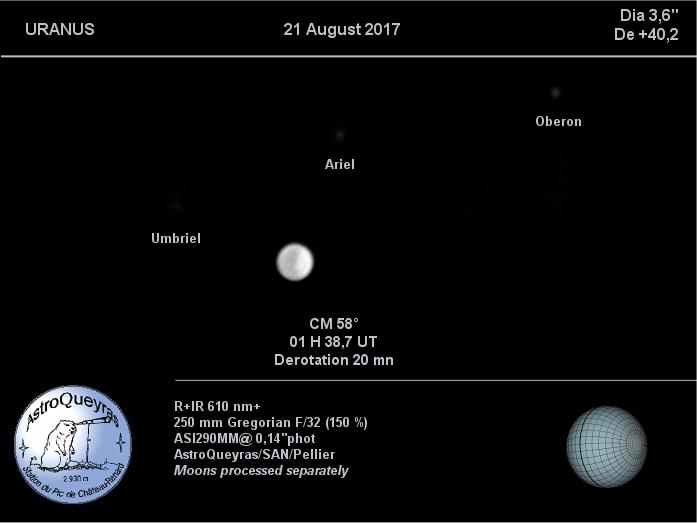 Uranus en R+IR à AstroQueyras août 2017