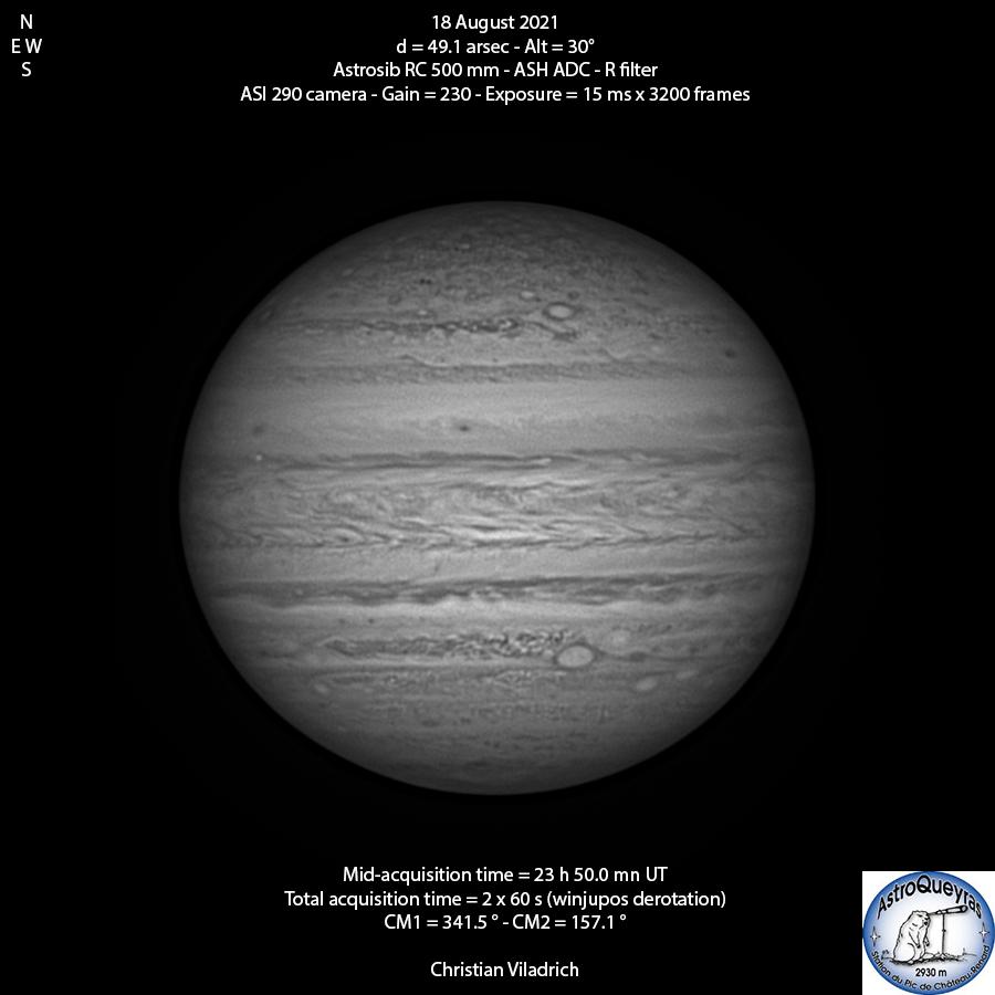Jupiter-18August2021-23h50UT-RC500-ASI29