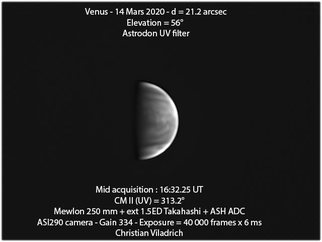 Venus-14March2020-16h32minUT-M250-UV-ASI