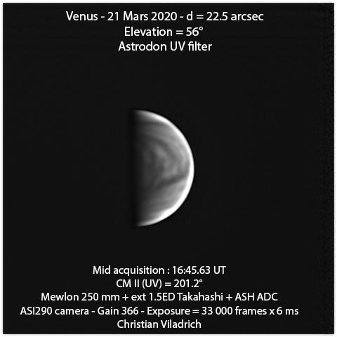 Venus-21March2020-16h45minUT-M250-ASI290